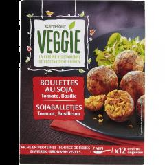 Bulete cu proteine din soia Carrefour Veggie 200g