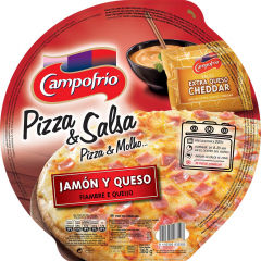 Pizza cu Mozzarella si sunca coapta la cuptor pe piatra, Campofrio 360g