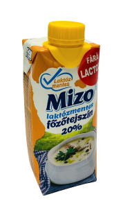 Smantana pentru gatit fara lactoza 20% grasime Mizo 330ml