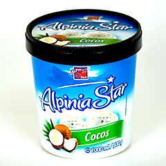 Inghetata cu aroma de cocos si migdale Alpinia Star 1L