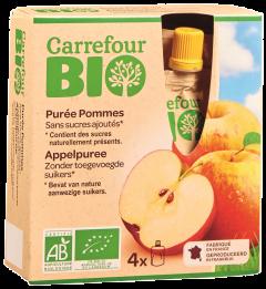 Piure mere 4x90g Carrefour Bio