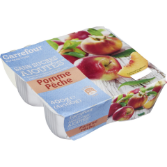 Piure de mere si persici 4x100g Carrefour