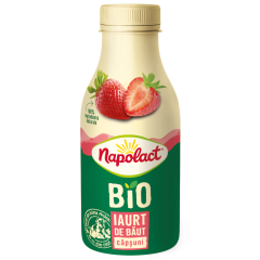 Iaurt de baut bio capsuni Napolact 230ml