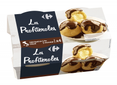 Profiterol ciocolata 4x90gr Carrefour