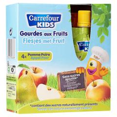 Piure de mere si pere Carrefour Kids 4x90g