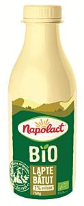 Lapte batut bio 2% grasime  Napolact 750g