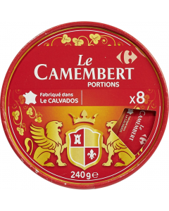 Branza cu pasta moale din lapte de vaca Camembert Carrefour 240g
