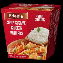 Pui spicy cu susan si orez Edenia 350g