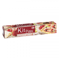 Aluat pentru pizza + sos de rosii Carrefour 400g
