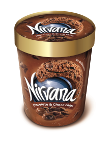 Inghetata chocolate & choco chips Nirvana 850ml