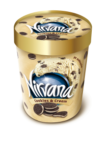 Inghetata cookies & cream Nirvana 850ml