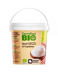 Iaurt Ecologic 3,5%grasime Carrefour Bio 900g
