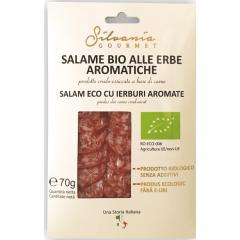 Salam cu ierburi aromate Bio Silvania Gourmet 70g
