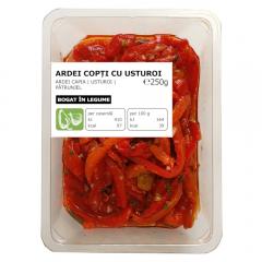 Salata ardei copti cu usturoi 250g