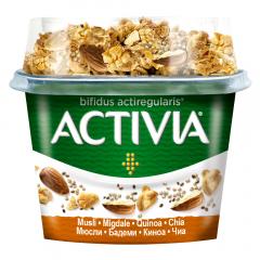 Iaurt Bifidus mic dejun cu musli, migdale, quinoa si chia, Activia 170g