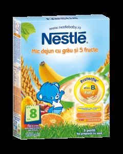 Cereale cu grau si fructe pentru sugari 6 luni+ Nestle Mic dejun 250g