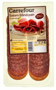 Salam Banatean crud-uscat, feliat Carrefour 100g