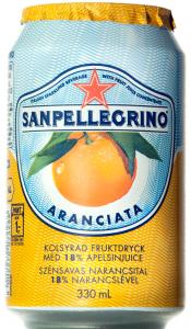 Bautura racoritoare carbogazoasa cu aroma de portocale San Pellegrino 0.33l
