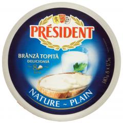 Branza topita natur President 140g
