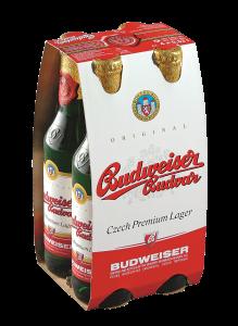 Pachet Bere blonda Budweiser Budvar 4x0.33L