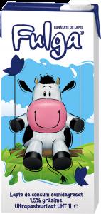 Lapte UHT semidegresat Fulga 1.5% grasime 1L