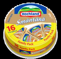 Branza topita cu smantana Hochland Family pack 280g