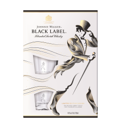Pachet Whisky Johnnie Walker Black Label 700ml + 2 Pahare