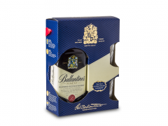 Scotch Whisky Ballantine's + 2 pahare 700ml