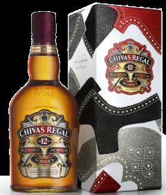 Whisky in cutie metalica Chivas Regal 12 ani 0.7L