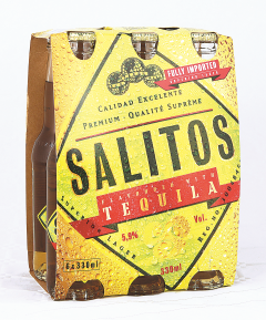 Bere cu aroma de tequila Salitos 6x0.33L