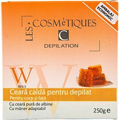 Ceara calda pentru depilat Les Cosmetics 250 g
