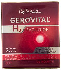 Crema lift regeneranta 30+ de noapte Gerovital H3 Evolution 50ml