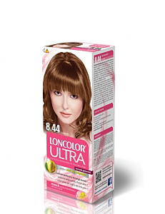 Vopsea de par Loncolor Ultra Stralucire si Vitalitate 8.44 Caramel 50ml