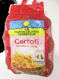 Cartofi speciali pentru prajit Carrefour 2.5kg