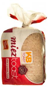 Paine fara coaja toast cu faina graham feliata KB Toast 300g