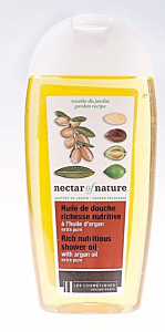 Gel de dus nutritiv cu ulei de argan extra pur Les  Cosmetiques Nectar of Nature 250ml