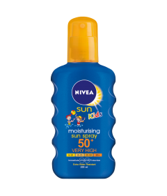 Spray colorat protectie solara copii FPS50 Nivea Sun 200ml