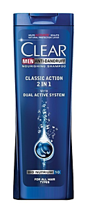 Sampon Clear Men Anti-Dandruff Classic Action 2in1 250ml