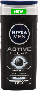 Gel de dus Nivea Men Active Clean 250 ML