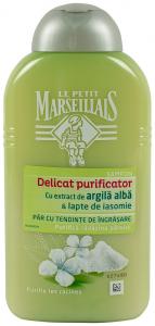 Sampon cu extract de argila alba&lapte de iasomie Le Petit Marseillais 250ml