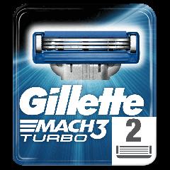 Rezerve aparat de ras Gillette Mach3 Turbo, 2 bucati