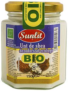 Unt de shea dezodorizat ecologic Bio Sunlit 150g