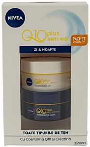 Crema anti-rid Q10 plus zi&noapte Nivea 2x50ml