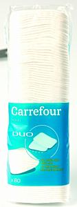 Dischete demachiante patrate 80 bucati Carrefour