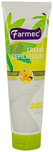 Crema depilatoare pentru piele sensibila cu extract de vanilie Farmec 150ml