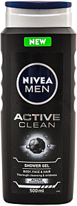 Gel de dus si par Active Clean Nivea Men 500 ml