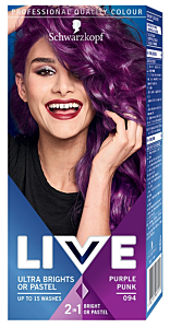 Vopsea de par semipermanenta Schwarzkopf-Live Ultra Brights 094 Purple Punk 80 ml