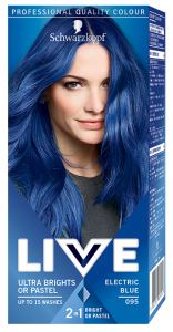 Vopsea de par semipermanenta Schwarzkopf-Live Ultra Brights 095 Electric Blue 80 ml