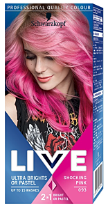 Vopsea de par semipermanenta Schwarzkopf-Live Ultra Brights 093 Shocking Pink 80 ml