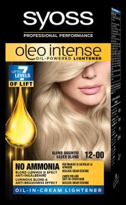 Vopsea de par permanenta fara Amoniac Syoss Oleo Intense 12-00 Blond Argintiu